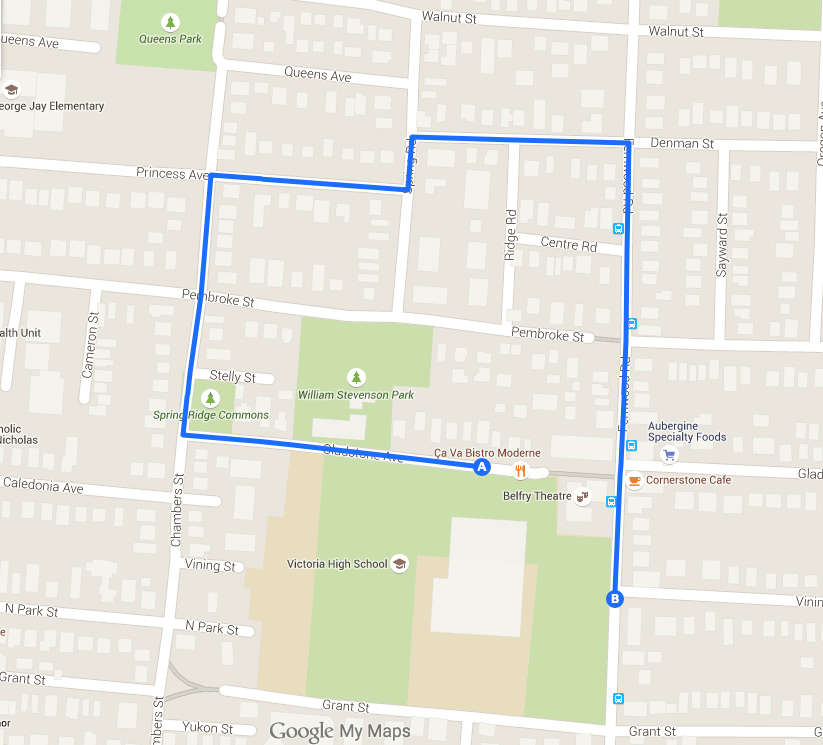 map of the parade route