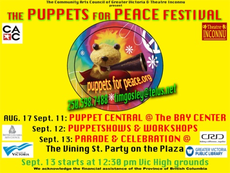 Puppets For Peace 2015 card