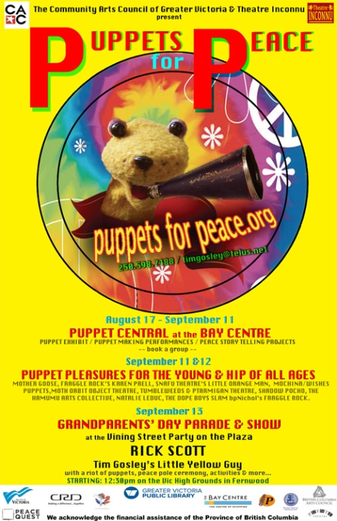 Puppets For Peace 2015 poster